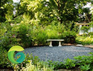 stone patio, gravel patio, natural stone patio