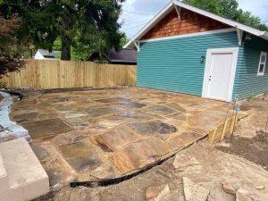 stone patio, natural stone, flagstone patio, natural stone patio
