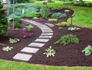 walkway, stepping stone, paver